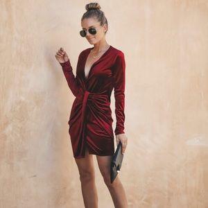 Velvet Twist Dress - Vici Collection